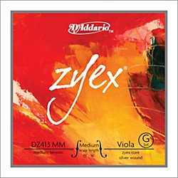 D'Addario Zyex 4/4 Viola String G Medium Scale Aluminum (DZ413 MM)