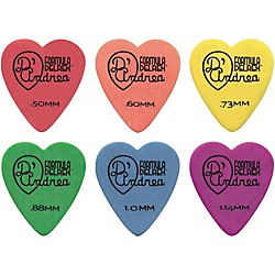 D'Andrea 323 Heart Delrex Delrin Picks One Dozen (TD323 .88MH)