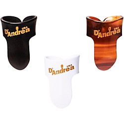 D'Andrea Finger Guitar Picks One Dozen (R374 LG BLK)