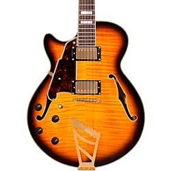 D'Angelico EX-SS Left-Handed Semi-Hollowbody Electric Guitar (DAEXSSLEFTYVS)