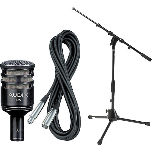 Audix D6 Kick Drum Mic with Cable and Stand-thumbnail