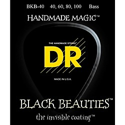 DR Strings BLACK BEAUTIES Coated 4-String Bass Light (40-100) (BKB-40)