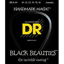 DR Strings Black Beauties Acoustic Guitar Strings Extra Lite (BKA-10)