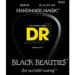 DR Strings Black Beauties Medium 4-String Bass Strings (BKB-45)