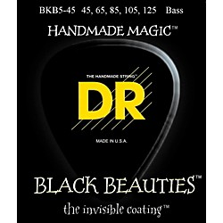 DR Strings Black Beauties Medium 5-String Bass Strings (BKB5-45)
