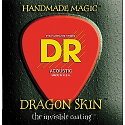 DR Strings DSA-12 Dragon Skin Coated Medium Acoustic Guitar Strings 3-Pack (DSA-12 3PK)