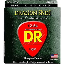DR Strings DSA-12 Dragon Skin K3 Coated Acoustic Strings Medium (DSA-12)