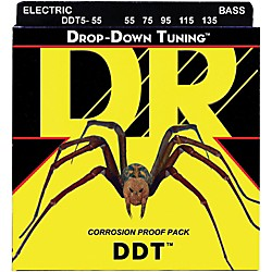 DR Strings Drop-Down Tuning 5-String Heavy Bass Strings (DDT5-55)
