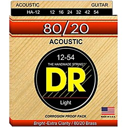 DR Strings Hi-Beam 80/20 Medium Acoustic Guitar Strings (HA-12)