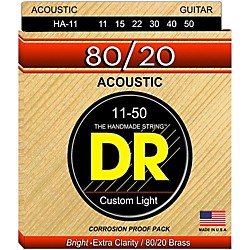 DR Strings Hi-Beam 80/20 Medium Lite Acoustic Guitar Strings (HA-11)