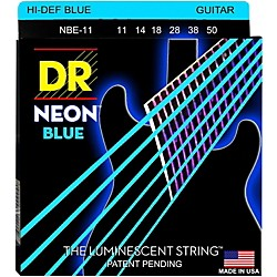 DR Strings Hi-Def NEON Blue Coated Medium (11-50) Electric Guitar Strings (NBE-11)