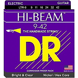 DR Strings LTR-9 Hi-Beam Nickel Light Electric Guitar Strings (LTR-9)