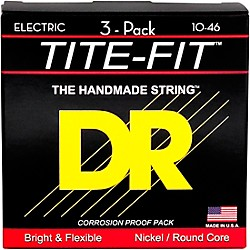 DR Strings MT-10 Tite-Fit Medium Electric Guitar Strings 3-Pack (MT-10 3PK)