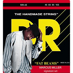 DR Strings Marcus Miller MM-45 Fat Beams Medium 4-String Bass Strings (MM-45)