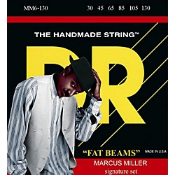 DR Strings Marcus Miller MM6-130 Fat Beams Medium 6-String Bass Strings .130 Low B (MM6-130)
