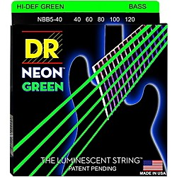 DR Strings NEON Hi-Def Green Bass SuperStrings Light 5-String (NGB5-40)
