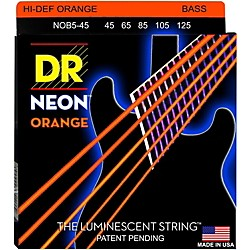 DR Strings NEON Hi-Def Orange Bass SuperStrings Medium 5-String (NOB5-45)