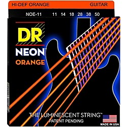 DR Strings NEON Hi-Def Orange SuperStrings Heavy Electric Guitar Strings (NOE-11)
