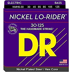 DR Strings Nickel Lo-Riders Medium 6-String Bass Strings (NMH6-30)