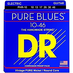 DR Strings PHR10 Pure Blues Nickel Medium Electric Guitar Strings (PHR-10)