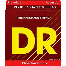 DR Strings Pre-Alloy Phosphor Bronze Lite Acoustic Guitar Strings (PL-10)
