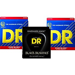 DR Strings Pure Beauties Pure Blues Electric Guitar Strings 3-Pack (PHR/BKE-10)