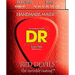 DR Strings RED DEVILS COATED 6 STRING BASS MEDIUM .125 (30-125) (RDB6-30)
