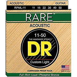 DR Strings RPML-11 Rare Phosphor Bronze Acoustic Guitar Strings (RPML-11)