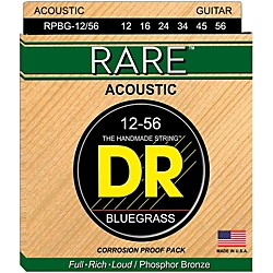 DR Strings Rare Phos Bronze Bluegrass Acoustic Guitar Strings (RPBG-12/56)