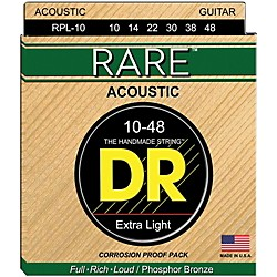 DR Strings Rare Phosphor Bronze Lite Acoustic Guitar Strings (RPL-10)