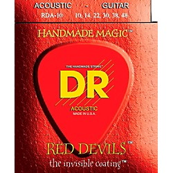 DR Strings Red Devils Extra Lite Acoustic Guitar Strings (RDA-10)