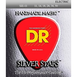DR Strings SIE-11 Silver Stars Coated Medium-Lite Electric Guitar Strings (SIE-11)