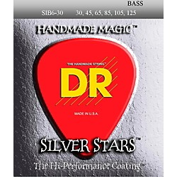 DR Strings Silver Stars Coated 6 String Bass Medium (30-125) (SIB6-30)