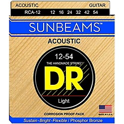DR Strings Sunbeam Phosphor Bronze Medium Acoustic Guitar Strings (RCA-12)