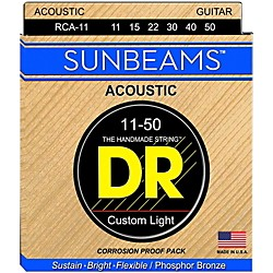 DR Strings Sunbeam Phosphor Bronze Medium Lite Acoustic Guitar Strings (RCA-11)