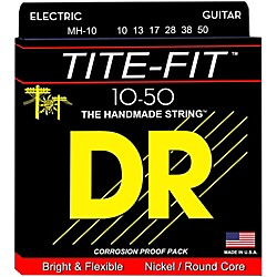 DR Strings Tite-Fit MH-10 Medium-Heavy Nickel Plated Electric Guitar Strings (MH-10)