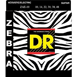 DR Strings ZEBRA Acoustic-Electric Medium (10-46) (ZE-10)