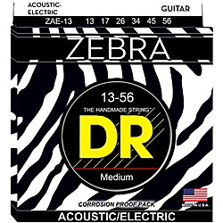 DR Strings Zebra Acoustic-Electric Medium Heavy Guitar Strings (ZAE-13)