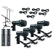 Digital Reference DRDK7 7-Piece Drum Mic Kit Cable and Stand Package