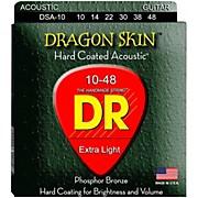 DR Strings DSA-10 Dragonskin K3 Coated Acoustic Strings Light