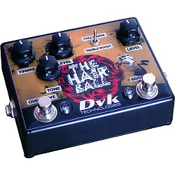 DVK Hairball Fuzz and Boost Guitar Effects Pedal (DVK-HAIR-1)