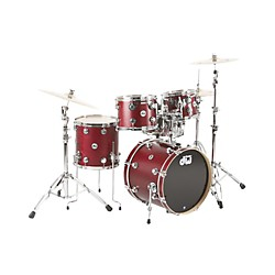 "DW Collector's Series 4-Piece Shell Pack w/20"" Bass Drum Cherry Satin Oil & Chrome Hardware (DRKT34C106)"
