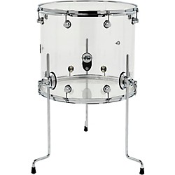 DW Design Series Acrylic Floor Tom with Chrome Hardware (DDAC1618TTCL)