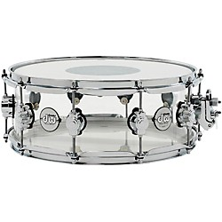 DW Design Series Acrylic Snare Drum with Chrome Hardware (DDAC5514SSCL)