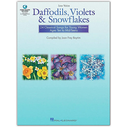 Hal Leonard Daffodils, Violets And Snowflakes for Low Voice (Book/Online Audio)-thumbnail