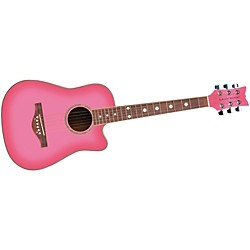 Daisy Rock 3/4 Dreadnought Wildwood Cutaway Pack Pink Burst (146265V2)