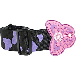 Daisy Rock Butterfly Guitar Strap - Black/Purple (14-6508)