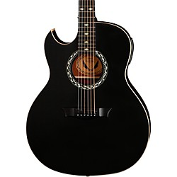 Dean Exhibition Left-Handed Acoustic-Electric Guitar with Aphex (EX BKS L)