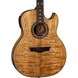 Dean Exhibition Quilt Ash Acoustic-Electric Guitar with Aphex (EXQA GN)