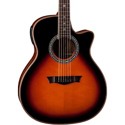Dean Exotica Plus Solid Top Acoustic-Electric Guitar (E PLUS TSB)